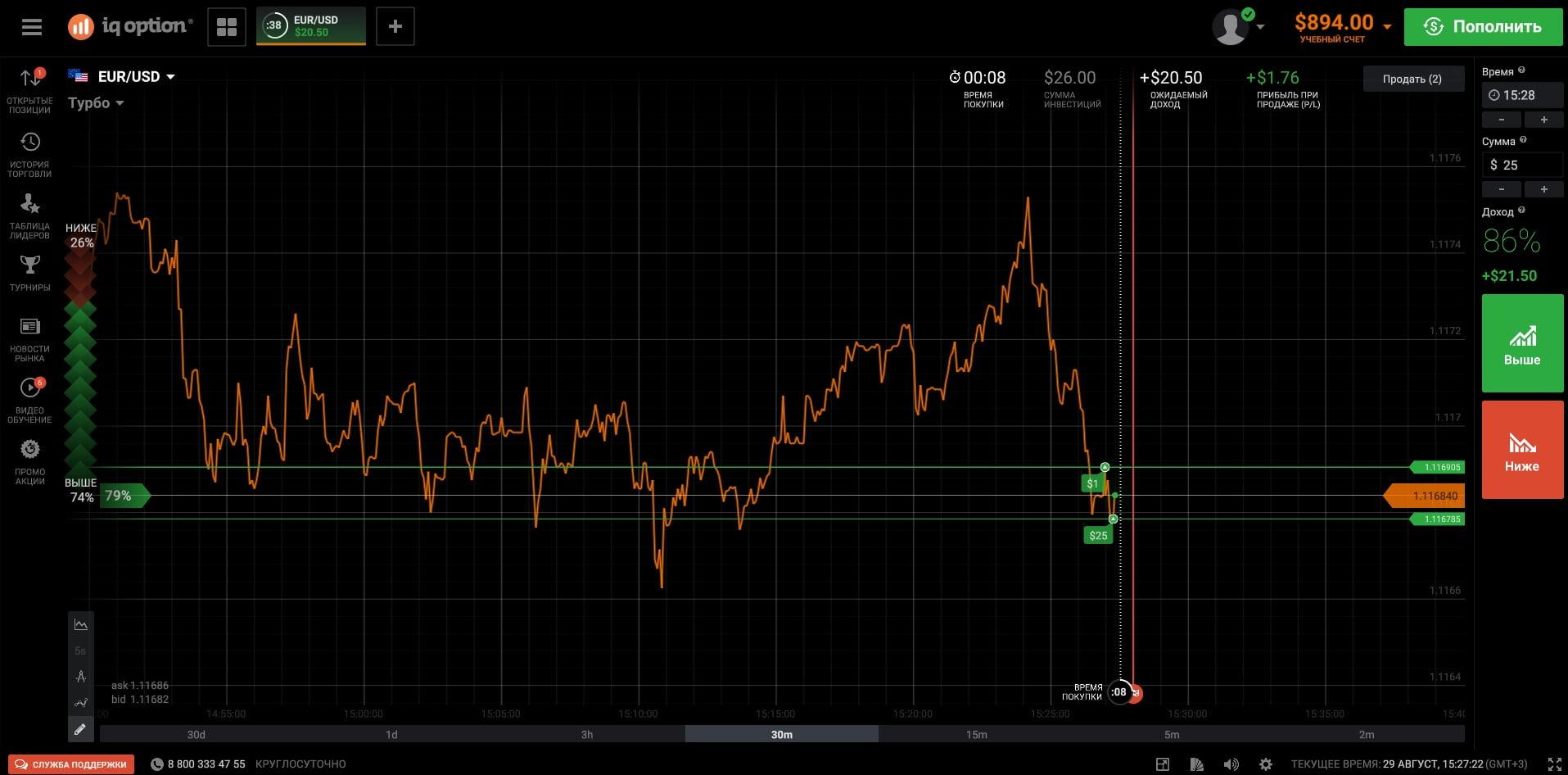 Торговая платформа брокера бинарных опционов