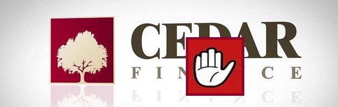 Брокер Cedar Finance - развод для лохов и обман. В черный список