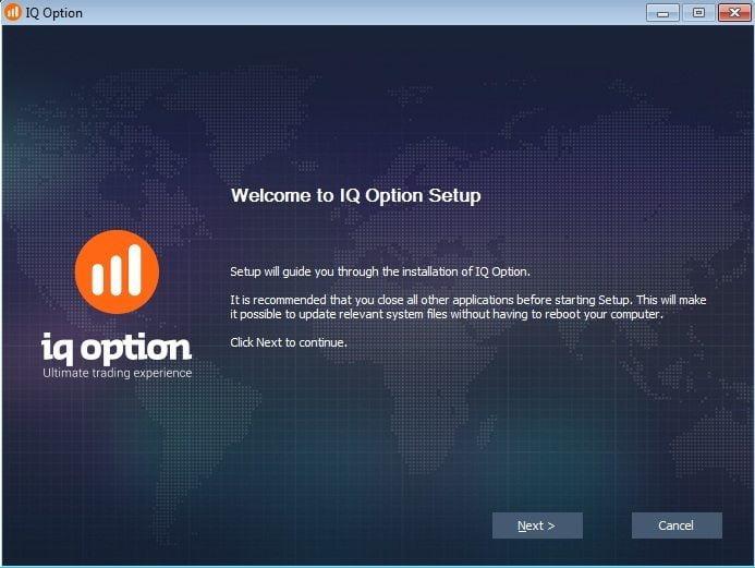 Установка приложения IQ Option на компьютер