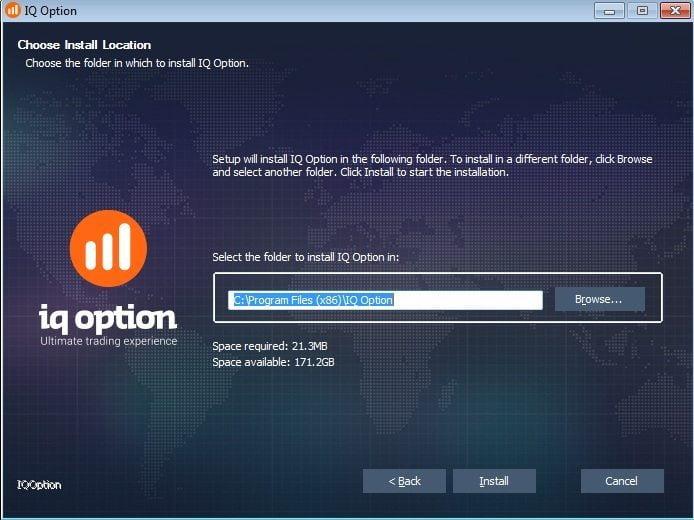 Установка приложения Iq Option