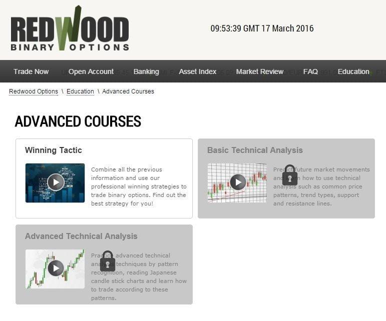 Обучающие материалы брокера Redwood Options
