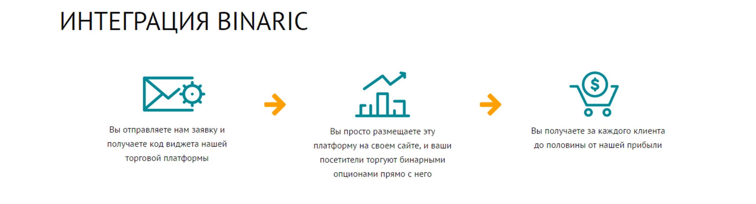 Партнерская программа Binaric