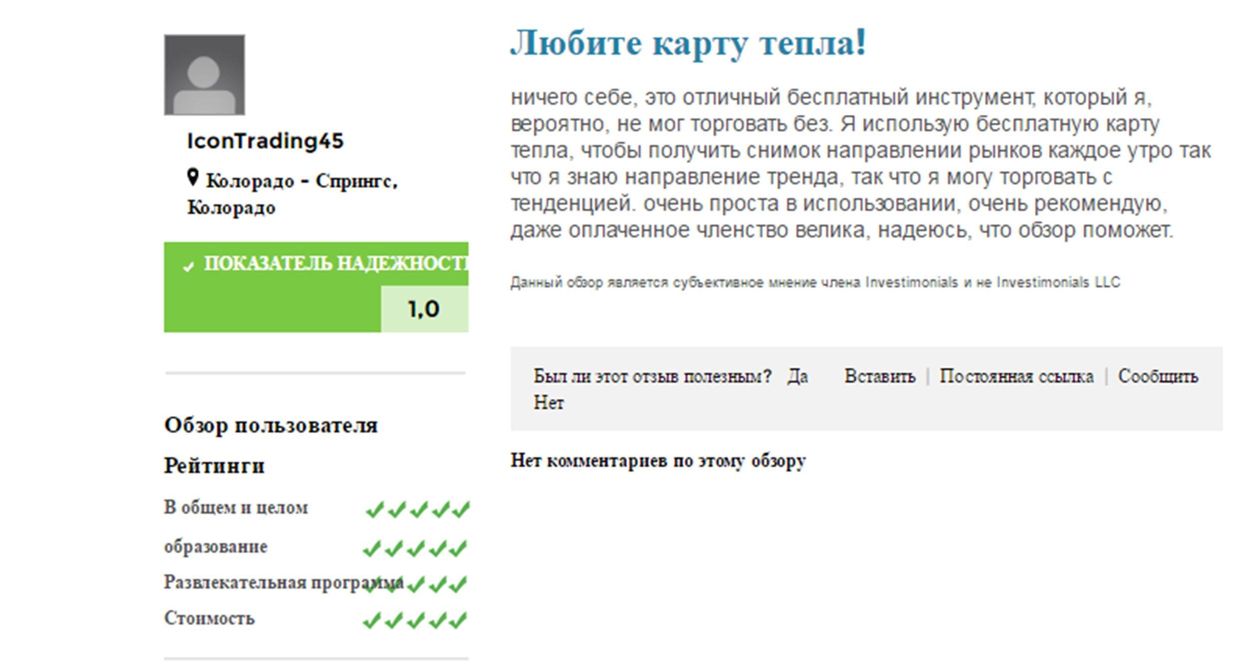 Отзывы о сайте finviz.com