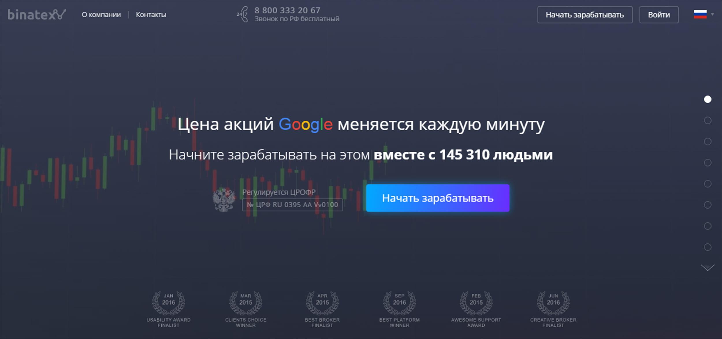 Binatex официальный сайт: https://binatex.com/ru