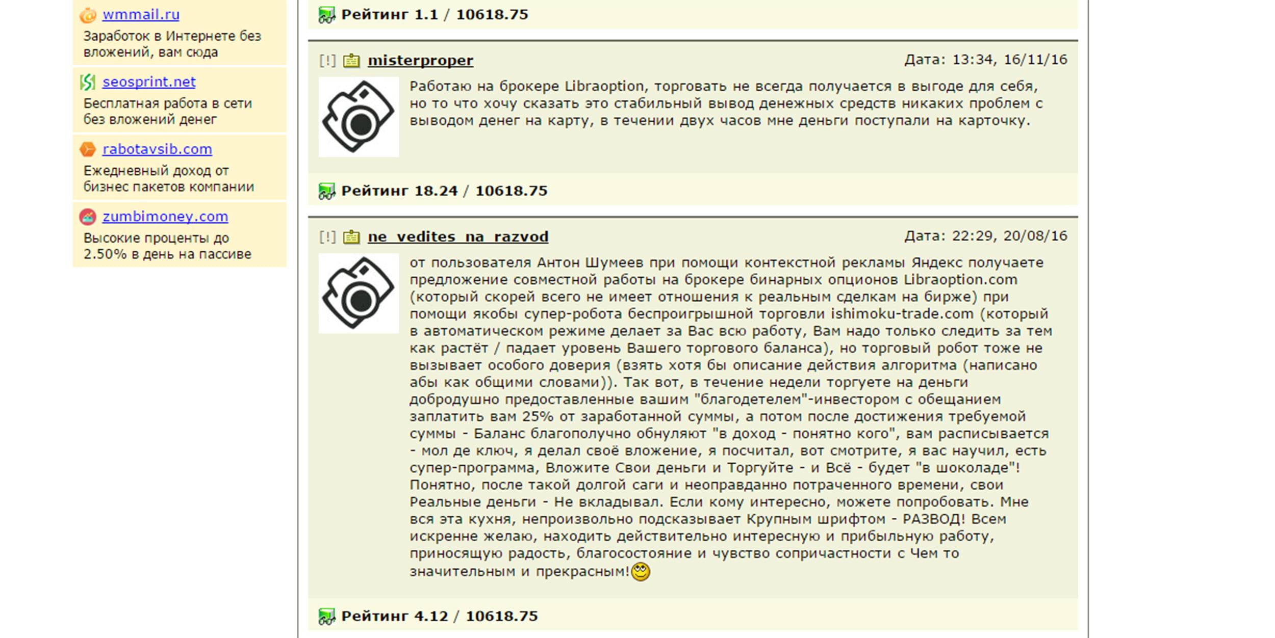 Отзывы о LibraOption