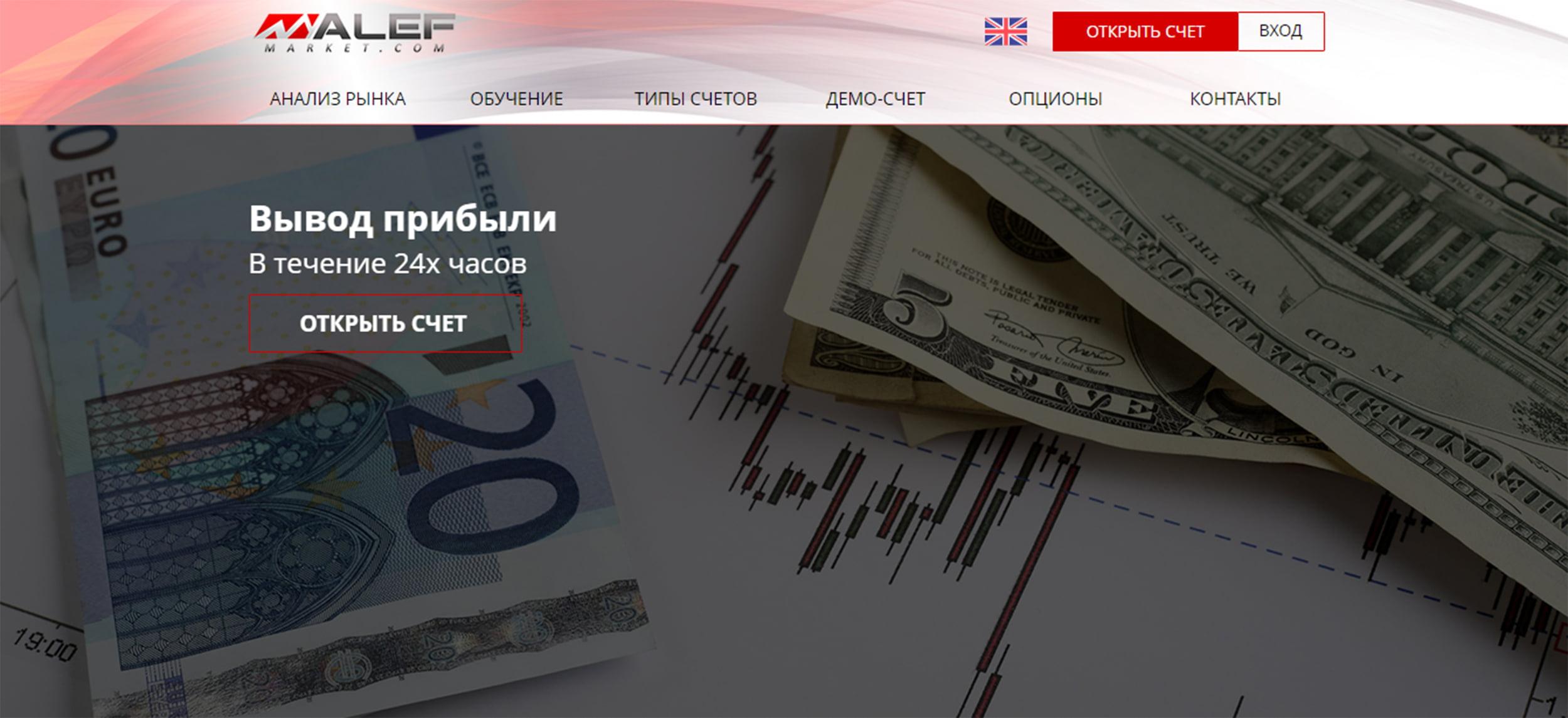 Проверка брокера AlefMarket.com. Отзывы пользователей