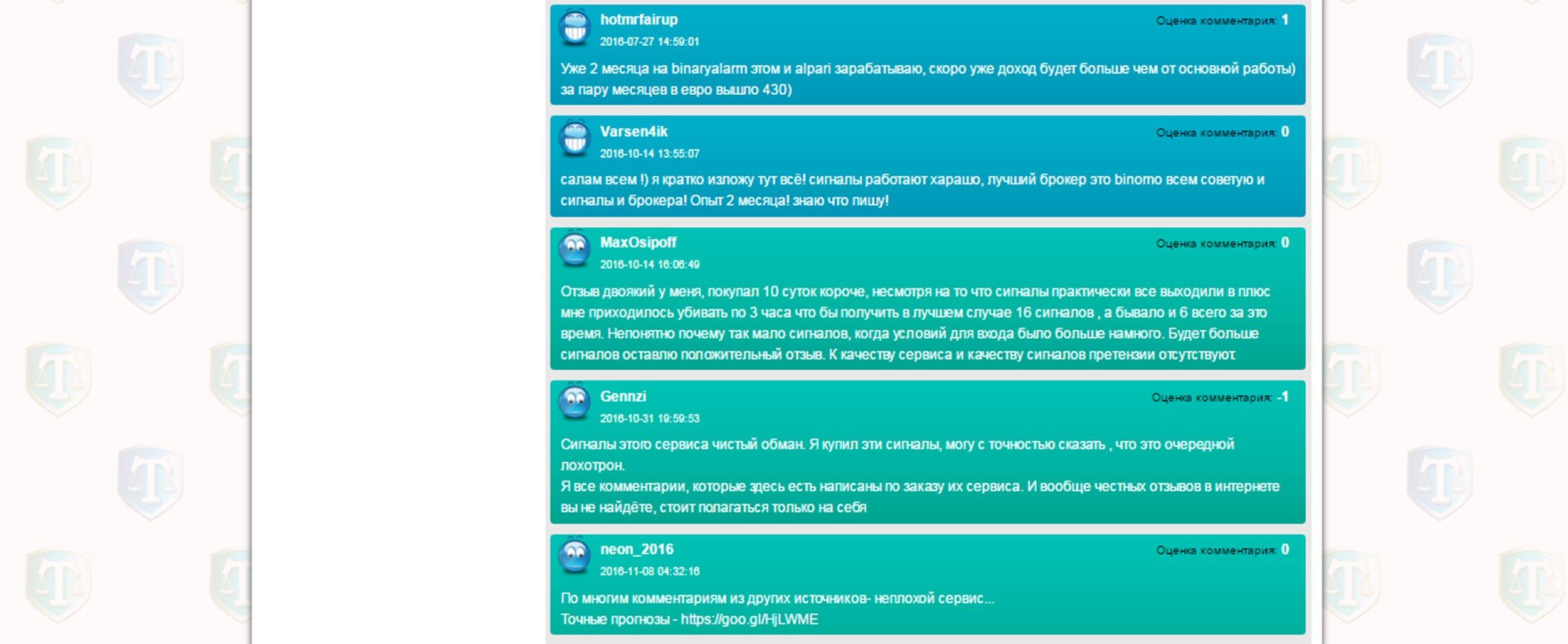 Сигналы для бинарных опционов бесплатно без регистрации в режиме онлайн