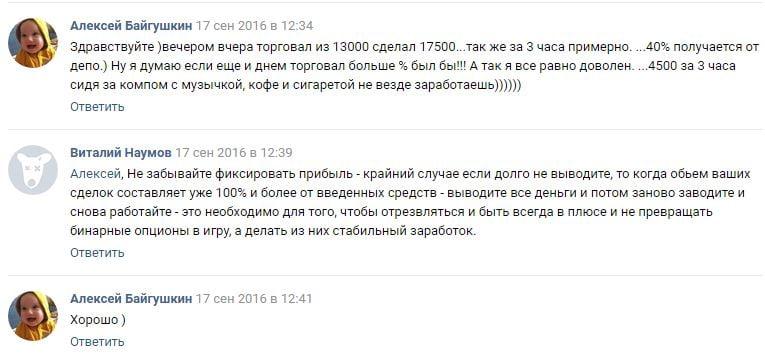Отзывы трейдеров о ТС Pere TIKA