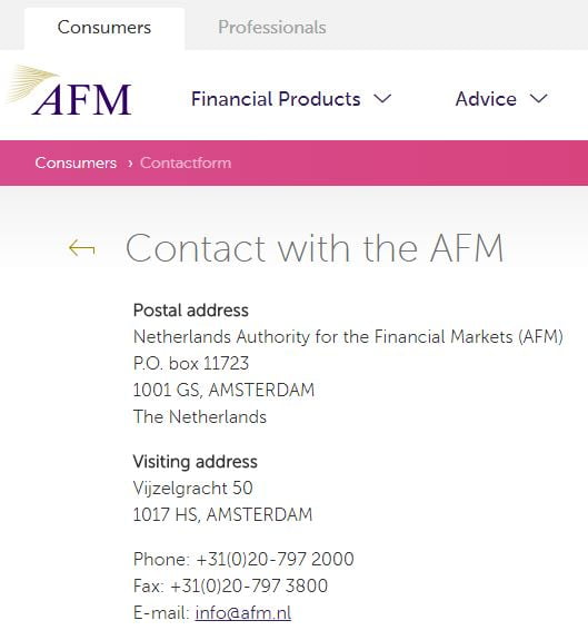 The Dutch Authority for the Financial Markets