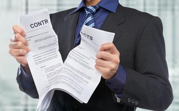 Условия для мгновенного расторжения контракта