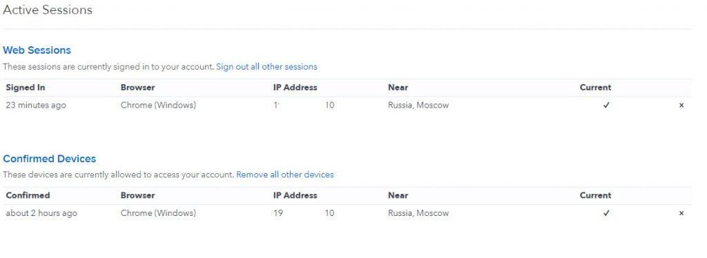 Просмотр IP-адреса и браузера