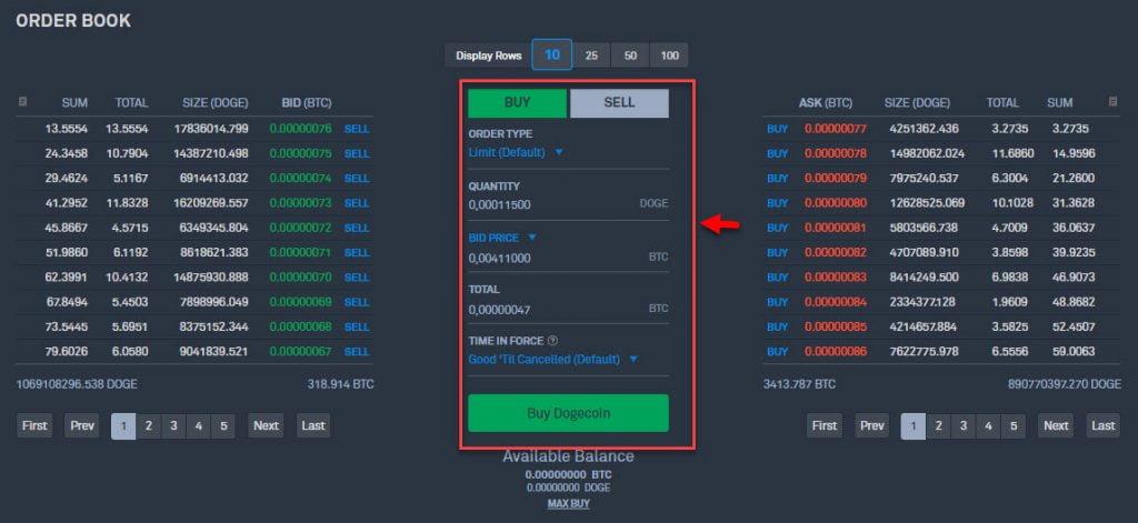 Покупка и продажа криптовалюты