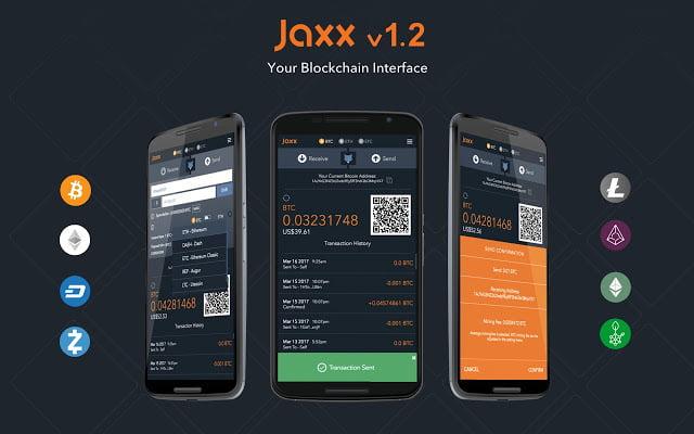 Мобильная версия электронного бумажника Jaxx