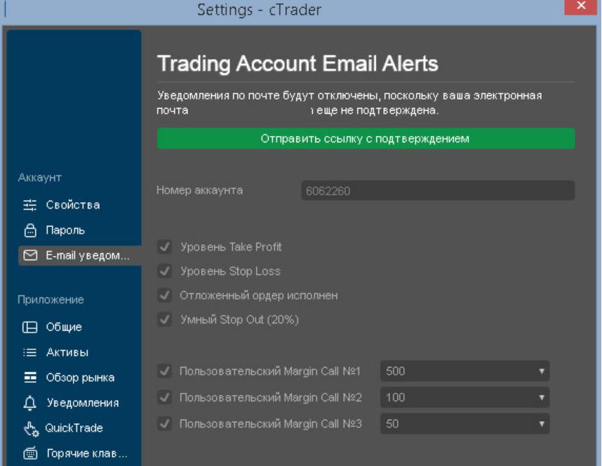 Выбор адреса электронной почты