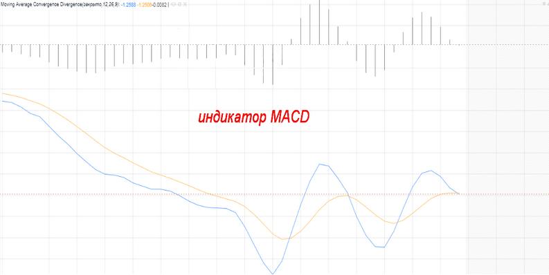 Пример индикатора MACD