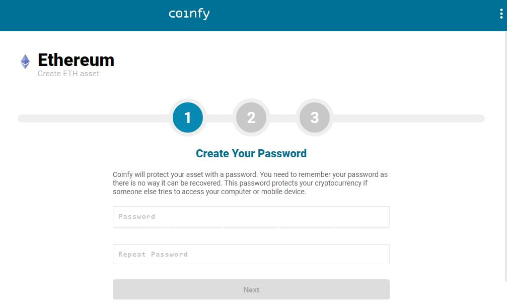 Личный кабинет онлайн-кошелька Coinbase